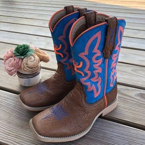 Twisted X Hooey Boys Square Toe Boots Size 12 M